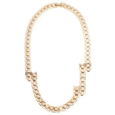 Wouters & Hendrix Gold Chainmail Abstract Necklace