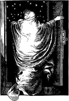 Una ilustración de (1895) tal cual apareciera en un ejemplar de la revista Scribner.