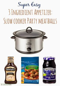 Slow Cooker Party Meatballs || The Chirping Moms