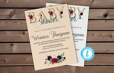 Fall Baby Shower Invitation | Marsala Template, Baby Fall Invite, Templett, Floral Template, Cheap Shower Invite, Burgundy and Navy #MarsalaBabyShower #FallBabyShower #FallLeavesInvite #BabyFallInvite #BurgundyAndNavy #NavyBirthday #EditYourself #DigitalNavyInvite #InstantMarsala #MarsalaTemplate