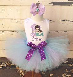 Mermaid 1st Birthday Tutu Outfit Lavender by CardsandMoorebyTerri
