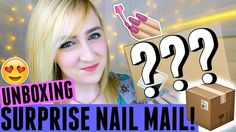 UNBOXING SURPRISE NAIL MAIL?! + BLOOPERS | Spangley Nails