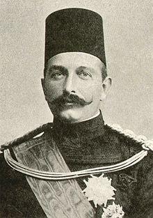 Abbas Hilmi II. Último jedive de Egipto, reinando entre 1892 y 1914.