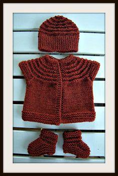 knappmakerskan: Enochenhalvtimmesmössan Baby Set, Baby Knitting Patterns, Hand Knitting, Baby Barn, Knit Baby Dress, Knitted Hats, Knit Crochet, Winter Hats, Kids