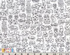 bought this today! Cat Fabric, White Cats, Printable Paper, Needlepoint, Needlework, Kitten, Printables, Quilts, Embroidery