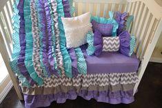 Custom+Ruffled+Crib+Bedding++Chevron+by+LikeMyMotherDoes+on+Etsy,+$120.00