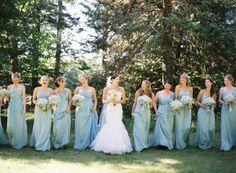 baby blue bridesmaids