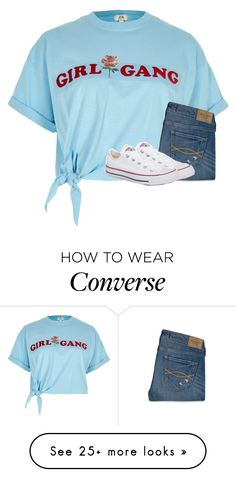 """""""Untitled #5434"""" by laurenatria11 on Polyvore featuring River Island, Abercrombie & Fitch and Converse"""