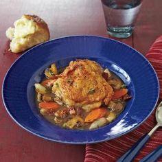 Chicken Stew with Red Wine Recipe   MyRecipes.com Mobile