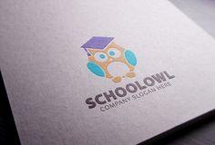 School Owl Logo by eSSeGraphic on Creative Market
