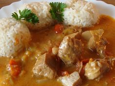 Czech Recipes, Ethnic Recipes, Mashed Potatoes, Chicken Recipes, Recipies, Curry, Food And Drink, Treats, Czech Food