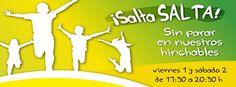 ¡SALTA SALTA en el Centro Comercial La ballena! :D  ¡Sin parar en nuestros hinchables,  el #viernes 1 y el sábado 2 de 17:30 a 20:30 hrs!  ;)  http://www.centrocomerciallaballena.com/ https://www.facebook.com/CentroComercialLaBallena https://twitter.com/#!/CCLaBallena http://instagram.com/cclaballena#  #cclaballena #grancanaria #laspalmas #islascanarias #ocio #entretenimiento  INVITAR AMIG@S: http://bit.ly/1panqM8