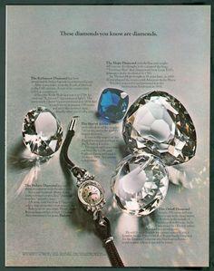 Bulova 1969: Real diamonds.