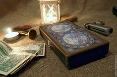 """Купить купюрница """"Старинная карта"""" шкатулка для денег - черный, купюрница, купюрница подарок, купюрница декупаж"""