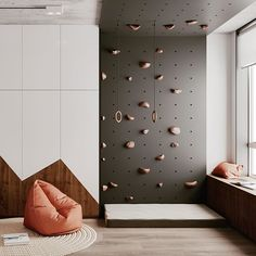 Home Sweet Home: These Are the Biggest Home Décor Trends of 2019 . Kids Bedroom Designs, Kids Room Design, Playroom Design, Home Climbing Wall, Creative Kids Rooms, Minimalist Kids, Kid Spaces, Kids Furniture, Room Interior