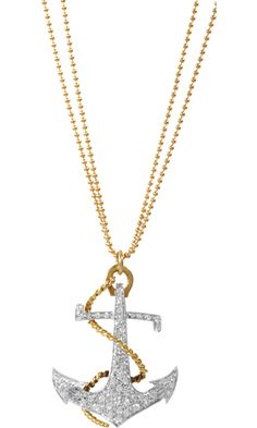 Love this! Renee Lewis Diamond Anchor Pendant Necklace - from Barneys
