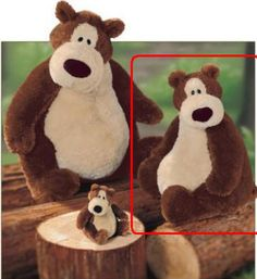 Gund Goober Bear 11 Inch plush toy. Goober is a tan and brown bear with his big pot belly. His silky coat and big nose make him irresistible. Currently only available in one size. $26.50