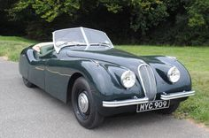 Launched at the 1948 London Motor Show, this rare Jaguar XK120 sports car is still a head-turner