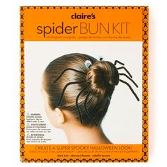 Such an easy way to make your everyday bun spooktacular! #Claires #HalloweenHair  Okay, I need this! :)