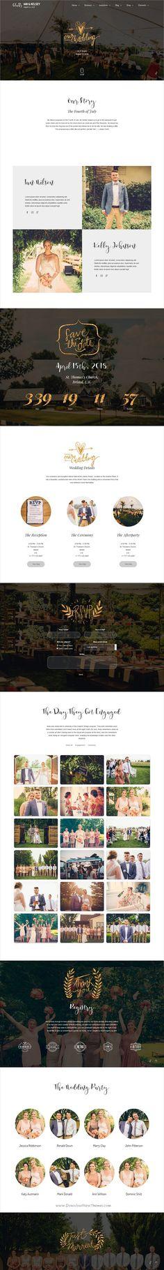 Amore Wedding WordPress Theme for Weddings