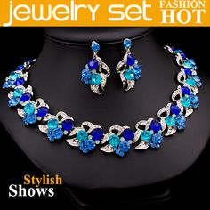 Aliexpress.com : Buy Fashion Crystal Necklace+Earrings Set Wedding Jewelry Set Free Shipping from Reliable wedding jewelry set suppliers on Yashow Jewelry Co.,Ltd( accept mixed orders ) $28.99