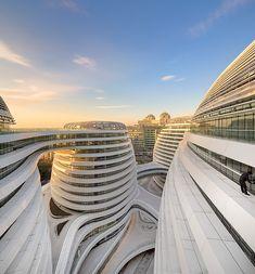 "organic architecture: slick futuristic! architect zaha hadid ""Galaxy Soho"" Beijing, China"