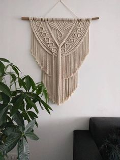 Macramé wandhanger/ Macramé wall hanging/ Macramé tapestry/