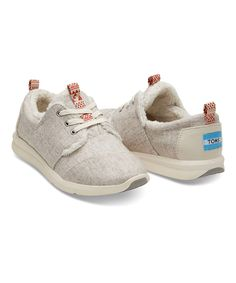 Look what I found on #zulily! Oatmeal Del Rey Wool Shearling Sneaker - Women by TOMS #zulilyfinds