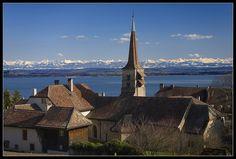 Eglise de Corcelles Lac de Neuchâtel