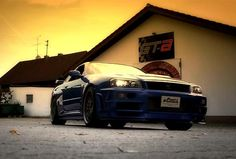 Nissan Skyline GT-R in which the late Paul Walker once raced in Fast & Furious 4 is currently on sale. Fast Furious 4, Paul Walker Car, Nissan Gtr Skyline, Fast Cars, Dream Life, Motors, German, Board, Blue