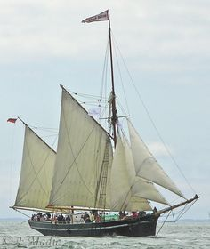 "Trading ketch ""Bessie Ellen"" ~ one of the last authentic trading ketches in Britain"