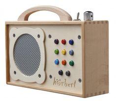 MP3-Player für Kinder: hörbert - aus Holz! | Hörspiele | Kindermusik ...