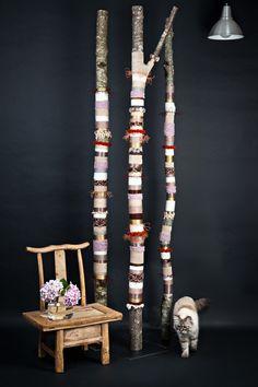 Création Yarn Bombing bohème by PITI chez La Voisine du Dessous ! Décoration - fait main - toulouse