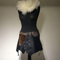 Skirt Leather Black With Runes and von Elbengard auf Etsy