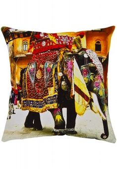 Enhancing true cultural beauty, this digital printed cushion cover marks its strong presence at a single glance. The beautiful print and lovely shades add all the charm to your interior. Place it against a plain bed sheet or use it on your drawing room's sofa set in earthy tones.