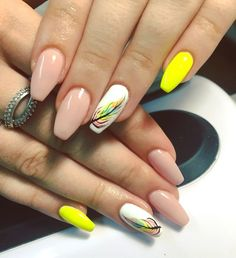 Color yellow Top Ideas For Yellow Nail Art Designs Nails ❥ Colorful . Top ideas for Yellow Nail art designs nails ❥ Colorful yellow nails - Nails Colorful Nail Designs, Acrylic Nail Designs, Nail Art Designs, Acrylic Nails, Colorful Nails, Yellow Nails Design, Yellow Nail Art, Pink Nail, Nails Ideias