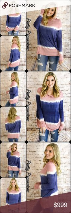 """NWT Tie Dyed Long Sleeve Oversized Hooded Top NWT Tie Dyed Long Sleeve Oversized Hooded Top  Available in sizes S, M (L sold out) Measurements taken from a small  Length: 30"""" Bust: 55"""" Waist: 50""""  Rayon/Spandex Made in the USA  Features  • all over tie dyed print • long sleeves  • hooded • super soft, breathable material  • relaxed, oversized cozy fit • pull over design  Bundle discounts available  No pp or trades  Item # 1/201290380TDT Pretty Persuasions Tops"""
