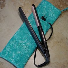 Flat Iron Case Curling Iron Case Travel Case by delaMarCollection