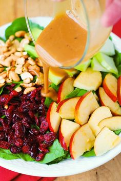 Jump to Recipe Print RecipeApple Cranberry Spinach Salad with Cashews and Balsamic Vinaigrette – healthy, delicious, easy-to-make salad! With lots of good for you ingredients, this recipe is packed with fiber, and it's gluten free! It's a great salad to make whenever you have spinach and apples, any time of the year. But this salad is definitely...Read More
