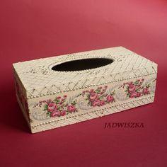 Sweet Rose- chustecznik / jadwiszka / Dekoracja Wnętrz / Pudełka