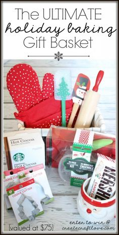 Enter for your chance to win The ULTIMATE Holiday Baking Gift Basket valued at over $75 in the Christmas Wish List Giveaway!  via createcraftlove.com