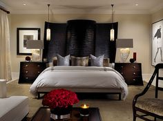 #focal different take on a headboard.  Designed by Marc-Michaels Interior Design