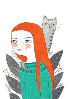 Mujer con gatoloro