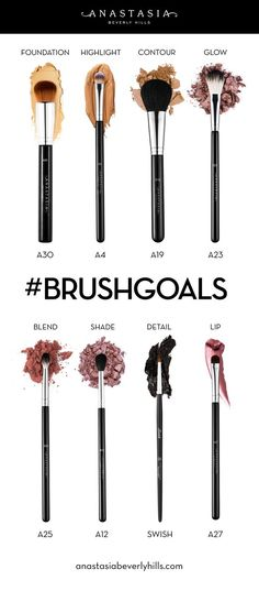 Brush Goals Anastasia Beverly Hills – Beauty Make up Styles Makeup Guide, Makeup Hacks, Makeup Goals, Makeup Ideas, Makeup Geek, Makeup Remover, Anastasia Beverly Hills, Makeup Brush Holders, Makeup Brush Set