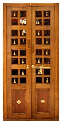 Image result for modern pooja room in house & teak-wood-puja-room-door-500x500.jpg (500×500) | Pooja Room ...