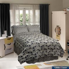 Street Revival Flower Skull 6-Piece Twin-size Bed in a Bag with Sheet Set   Overstock.com Shopping - The Best Deals on Bed-in-a-Bag