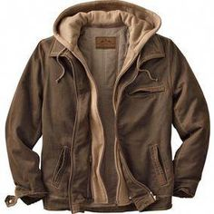 b5465b98 Men's Rugged Brown Full Zip Dakota Jacket #MensFashionCasual Мужские Зимние  Куртки, Мужская Одежда,