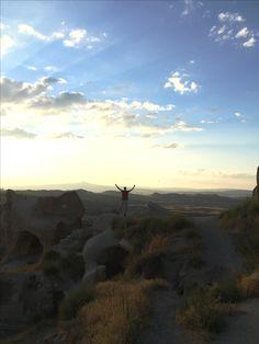 Kapadokya'da gün batımı