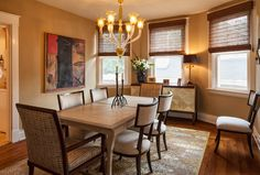 Traditional Dining Room by Amy Youngblood Interiors