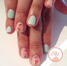 Tuesday's #NailCall: Flamingos, Metallics & Geometric Prints | Beauty High